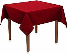 Biertisch Tischdecke 110x270 cm, Bordeaux Rot, Uni, Polyester, bügelfrei, gewebt, pflegeleicht, langlebig, einfarbig, Tischtuch, Tischwäsche, Biertischtischdecke