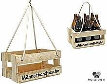 Bierträger - Flaschenträger - Männerhandtasche - Getränkekorb - Sixpack - leer - Geschenkidee - Flaschenkiste