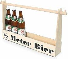 Bierträger mit Gravur | Flaschenträger aus Holz