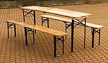 Bierzeltgarnitur 1 Tisch 2 Bänke, die