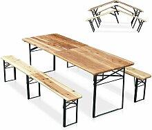 Bierzeltgarnitur Tisch und Bierbänke Klappbar