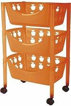 Big Badezimmer Trolley / Badezimmer Rollwagen Kunststoff in verschiedenen Farben (orange)