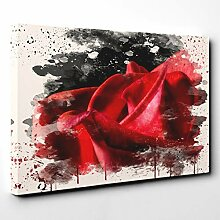 BIG Box Art Leinwanddruck mit roter Rose (5),