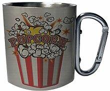 Big Bucket Of Popcorn Edelstahl Karabiner