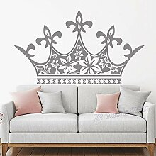 Big Crown Headboard Wall Decal Girl Baby Princess