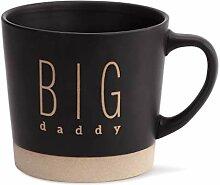 Big Daddy Kaffeebecher, Keramik, Steingut, matt,