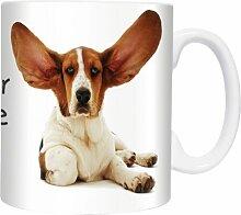 Big Ears - Basset -  Mugs - Becher - Chopes