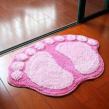 Big Feet Absorbent Mats Fußmatte Badematte Badezimmermatte Küche Schlafzimmer Toilette Matte ( größe : A )