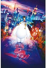 Big Hero 6 Baymax Filmposter Holzpuzzle,