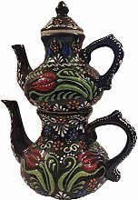 Big Keramik Teekanne, Blumenmuster Big Teekanne,