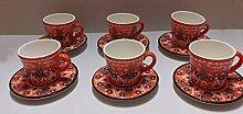 Big Keramik Teekanne Blumenmuster Big Teekanne Rot