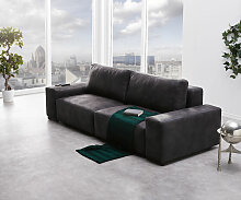 Big-Sofa Lanzo L 250x105 cm Anthrazit Vintage Optik
