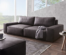 Big-Sofa Lanzo XL 270x125 cm Anthrazit Vintage