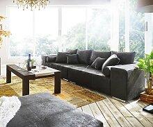 Big-Sofa Marbeya 285x115 cm Anthrazit Antik Optik