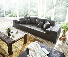 Big-Sofa Marbeya 285x115 cm Anthrazit Antik Optik