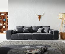 Big-Sofa Marbeya 285x115 cm Graphite mit 10 Kissen