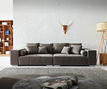Big-Sofa Marbeya 285x115 cm Khakibraun mit 10