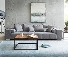 Big-Sofa Marbeya 285x115 cm Taupe mit 10 Kissen