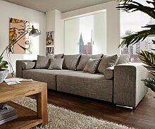Big-Sofa Marbeya 290x110 cm Hellgrau mit