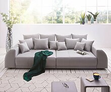 Big-Sofa Violetta 310x135 cm Grau abgesteppt mit