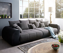 Big-Sofa Violetta 310x135 cm Schwarz inklusive