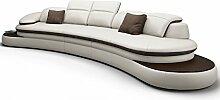 Big Sofa XXL Couch Leder Pisa Rundsofa