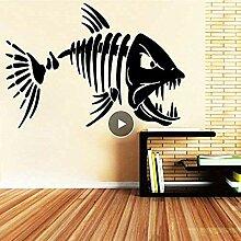 Big Zahn Haifisch Wand Design Aufkleber für