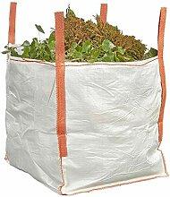Bigbagland Weißer Laubsack für Gartenabfälle