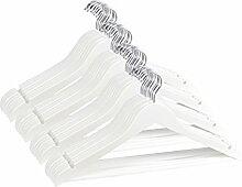BigDean 20x Kleiderbügel weiß Holzk
