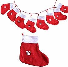 BigDean Adventskalender mit XXL Socken 18x20cm -