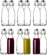 BigDean Einmachglas Glasflasche mit