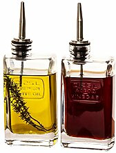 BigDean Essig &Öl Flaschen-Set mit Ausgießer