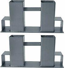 BigDean Holz-Stapelhilfe 2er Set - aus Metall