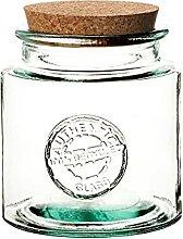 BigDean Öko Vorratsglas 1,5 Liter mit Kork-Deckel