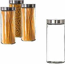 BigDean Vorratsglas 2,2 Liter Glas Schraubglas