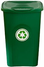 BigDean XL Mülleimer 50L groß - grün - mit