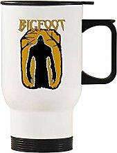 Bigfoot Auto-Becher, Edelstahl, silberfarben, Weiß