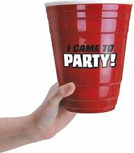 """Bigmouth Keramikbecher, riesengroß, Aufschrift """"Born to Party"""", Ro"""