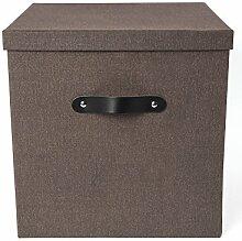 Bigso Box Of Sweden 7991C4801lea000Aufbewahrungsbox Panneau de Faser dunkelbraun 31,5x 31,5x 31cm