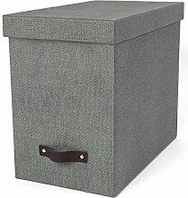 Bigso Box Of Sweden 9441C6443Tür Rückenlehne Panneau de Faser grau 35x 18,5x 27cm