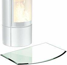 bijon® Glasplatte für Kaminofen Segmentbogen mit