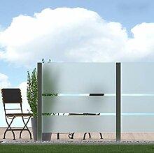 bijon Sichtschutz Glas Terrasse Glas-Zaun