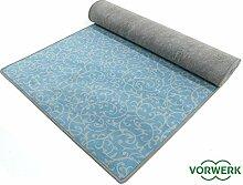 Bijou Royal - Der Vorwerk Teppich Läufer von HEVO® in Türkis 100x400 cm Sonderedition