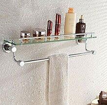BIKCVA Regal, Handtuchhalter aus Glas, Regal aus