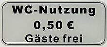 Bike Label Aufkleber 3D 900044 WC-Nutzung 50 Cent