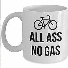 Bike Lover Geschenkbecher - All Ass No Gas Coffee