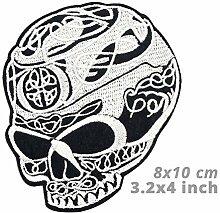 Biker Patch auf Kleidung Aufkleber Totenkopf