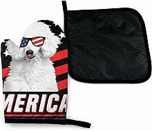 Bikofhd Amerikanische Flagge USA Hundepudel Pizza