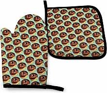Bikofhd Chocolate Donut Pattern Teal Die Flaggen