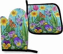 Bikofhd Frühlingsblumen Blüten Schmetterling K